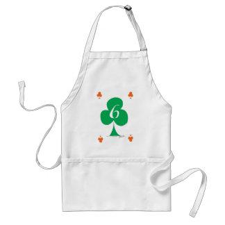 Lucky Irish 6 of Clubs, tony fernandes Standard Apron
