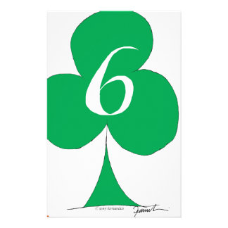 Lucky Irish 6 of Clubs, tony fernandes Stationery