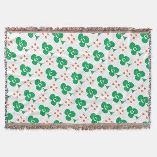 Lucky Irish 6 of Clubs, tony fernandes Throw Blanket
