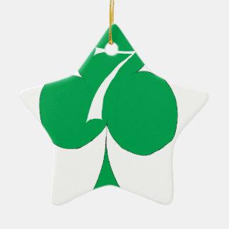 Lucky Irish 7 of Clubs, tony fernandes Ceramic Star Decoration