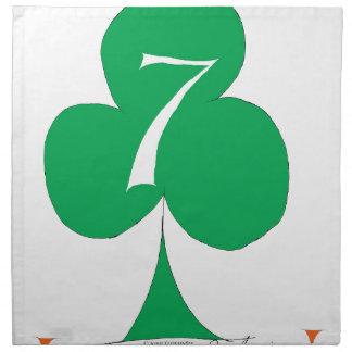 Lucky Irish 7 of Clubs, tony fernandes Napkin