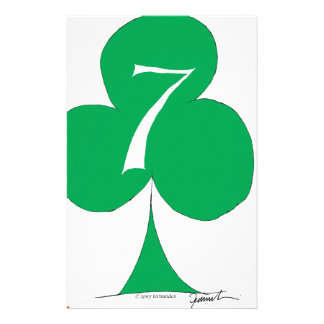 Lucky Irish 7 of Clubs, tony fernandes Personalized Stationery