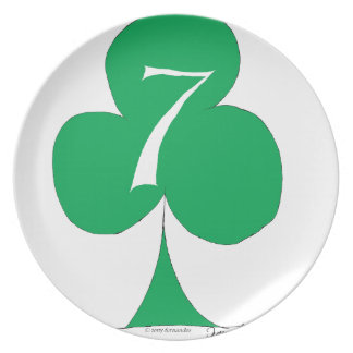 Lucky Irish 7 of Clubs, tony fernandes Plate