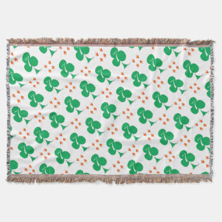 Lucky Irish 7 of Clubs, tony fernandes Throw Blanket