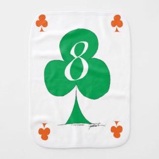 Lucky Irish 8 of Clubs, tony fernandes Burp Cloth
