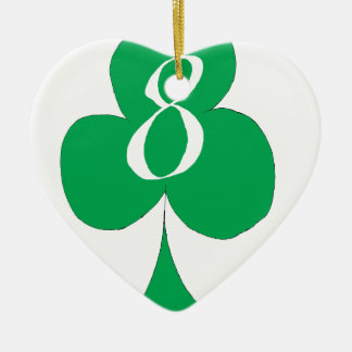Lucky Irish 8 of Clubs, tony fernandes Ceramic Ornament