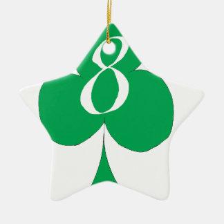 Lucky Irish 8 of Clubs, tony fernandes Ceramic Star Decoration