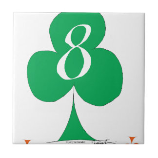 Lucky Irish 8 of Clubs, tony fernandes Ceramic Tile