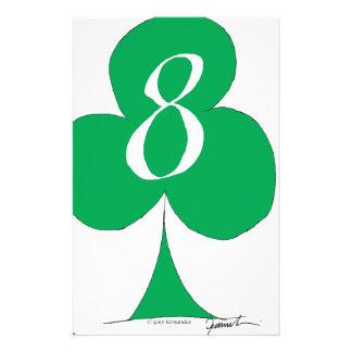 Lucky Irish 8 of Clubs, tony fernandes Customised Stationery