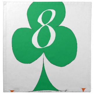 Lucky Irish 8 of Clubs, tony fernandes Napkin