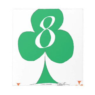 Lucky Irish 8 of Clubs, tony fernandes Notepads