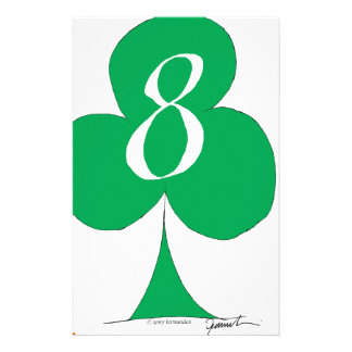 Lucky Irish 8 of Clubs, tony fernandes Personalized Stationery