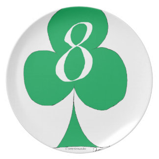 Lucky Irish 8 of Clubs, tony fernandes Plate