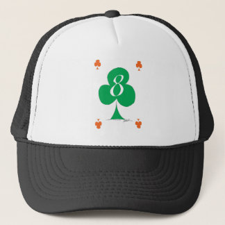 Lucky Irish 8 of Clubs, tony fernandes Trucker Hat