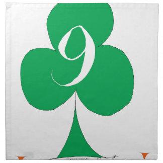 Lucky Irish 9 of Clubs, tony fernandes Napkin