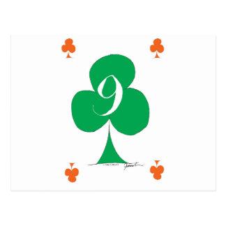Lucky Irish 9 of Clubs, tony fernandes Postcard