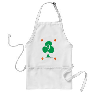 Lucky Irish 9 of Clubs, tony fernandes Standard Apron