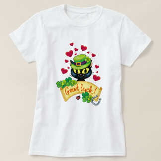 Lucky Irish Cat! T-Shirt