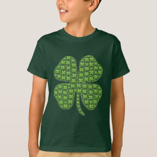 Lucky Irish Clover Kids' Green T-Shirt