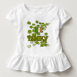 Lucky Irish Clovers and Irish Flag T-shirt