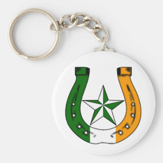 lucky irish horseshoe key ring