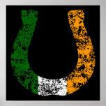 lucky irish horseshoe. print