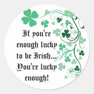 Lucky Irish Round Sticker