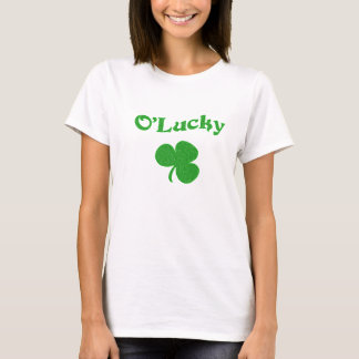Lucky Irish T-Shirt Design With Three Leaf Clover