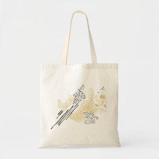 LUCKY KOI KOI gold Tote Bag