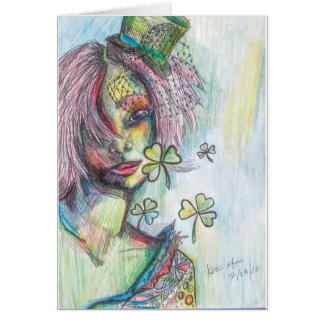 Lucky Lady Greeting Card