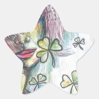 Lucky Lady Star Sticker