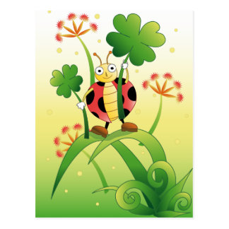 Lucky Ladybird Postcard
