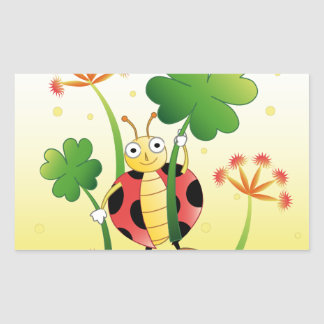 Lucky Ladybird Rectangular Sticker