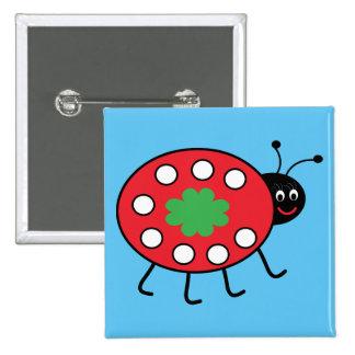 Lucky Ladybird  Round Badge 15 Cm Square Badge