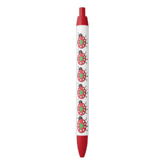Lucky Ladybird  Trim Pen, Black Ink Black Ink Pen
