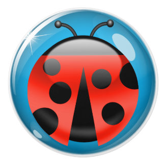 Lucky LadyBug Drawer / Cabinet Knobs - SRF