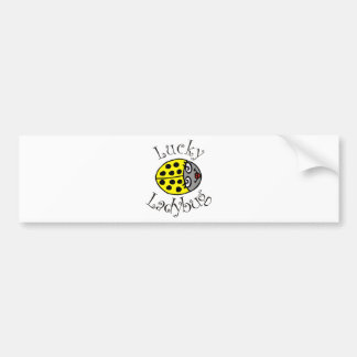 Lucky Ladybug in Yellow Bumper Sticker