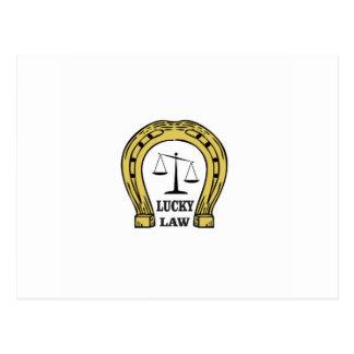 lucky law fun postcard
