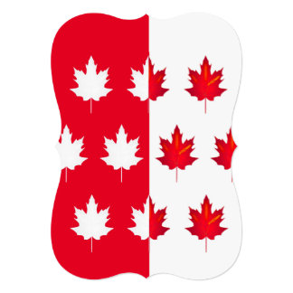 Lucky Leaves Canada Day Party Invitation