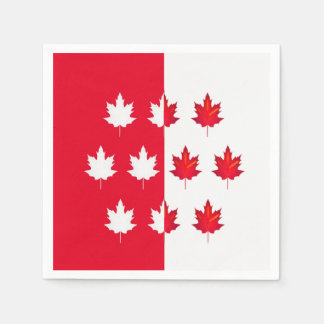 Lucky Leaves Canada Day Party Paper Napkins Disposable Serviette