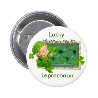 Lucky Leprechaun Button