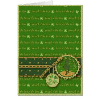Lucky Leprechaun Card
