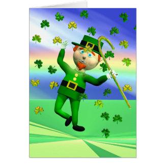 Lucky Leprechaun Dance Card
