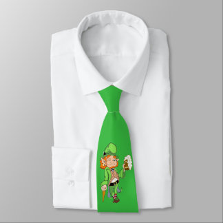 Lucky Leprechaun Kelly Green Neck Tie