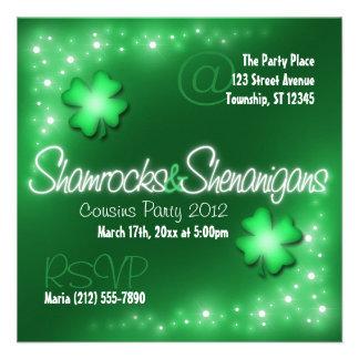 Lucky Lights - Shamrocks Shenanigans Invitations
