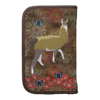 Lucky Llama Brown Floral Planner
