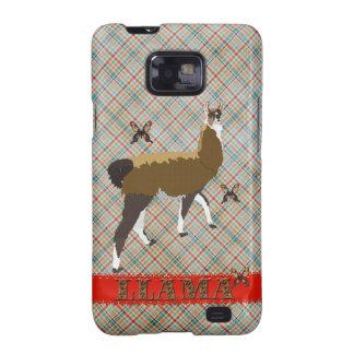 Lucky Llama Plaid Case Galaxy SII Case