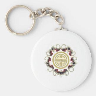 Lucky Longevity Chinese Charm Keychains