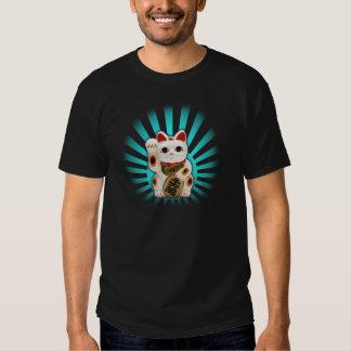 Lucky Maneki Neko Cat T Shirts