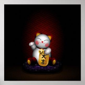 Lucky Maneki Neko Poster